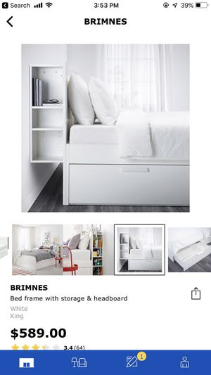 IKEA king storage bed for Sale in Charlotte, NC