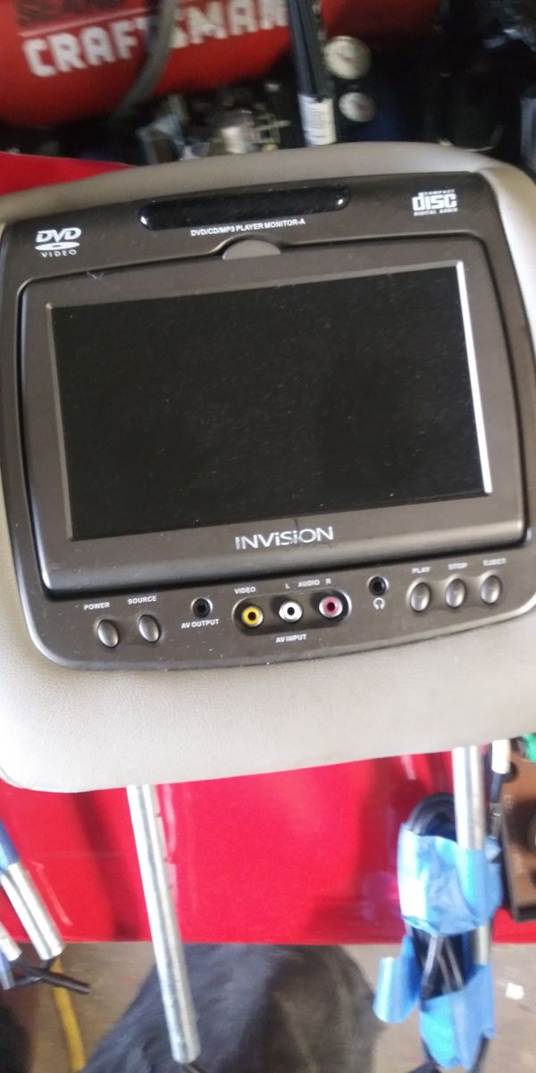 To Invision headrest monitor DVD CD MP3 players