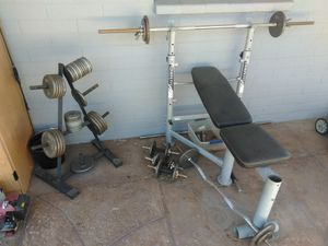 Weight bench and weights for Sale in Mesa, AZ