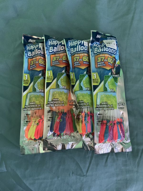 4 packs of water balloons