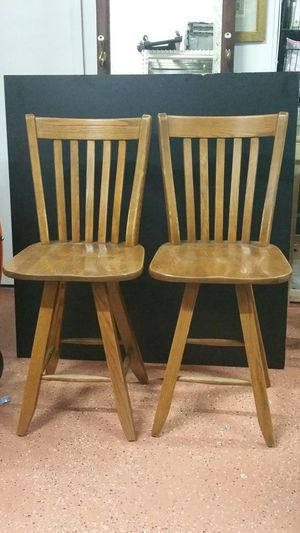 Solid wood swivel stools for Sale in Portsmouth, VA