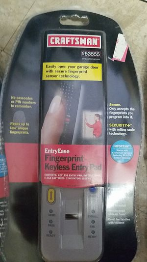 fingerprint keyless garage door entry pad new in pack check compatibility in pictures for Sale in Tracy, CA