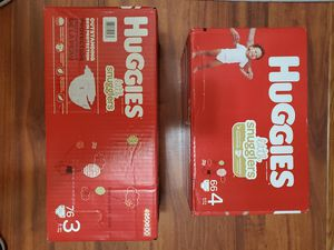 Huggies snuggle size 3-4 $40 for both or $20 ea for Sale in Fort Worth, TX