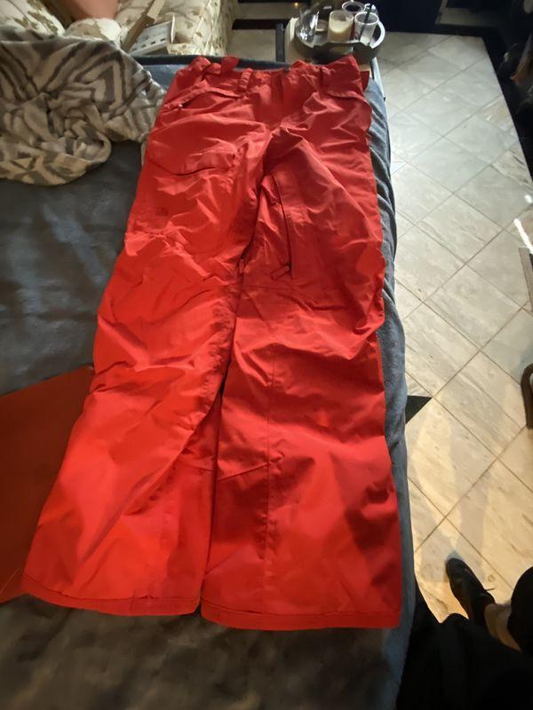 Red north face ski/snowboard pants