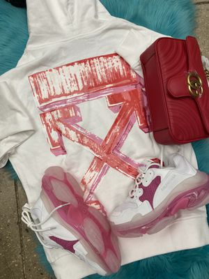 Offwhite Hoodie. Balenciaga Sneakers Gucci Bag for Sale in Toms River, NJ