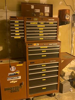 Craftsman Rolling Three Tier Tool Box With Two Side Boxes And Tray for Sale in Sherwood,  OR
