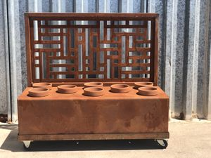 Planter Box with Wheeled Cart - Patina Finish for Sale in Phoenix, AZ