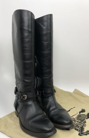 Burberry Adelaide black leather riding boots SZ 37 US 7/ 6.5 for Sale in Salt Lake City, UT