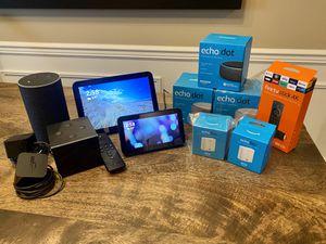 Amazon Bundle Echo Dot Show 5 & 8 Flex Fire TV Cube Fire TV Stick 4K for Sale in Everett, WA