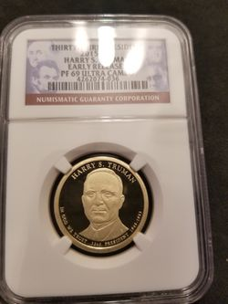 HARRY S TRUMAN PRESIDENTIAL DOLLAR IN PROOF69 ULTRA CAMEO for Sale in Casselberry,  FL