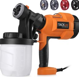Paint Sprayer, High Power HVLP Home Electric Spray Gun,Adjustable Valve Knob, Quick Refill Lid,4 Nozzle Sizes-TACKLIFE SGP15AC for Sale in Bothell,  WA