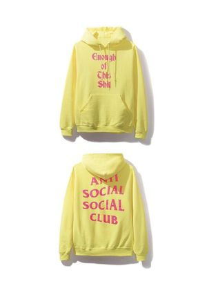 Anti Social Social Club EOS Yellow Hoodie sweater Large for Sale in Bakersfield, CA