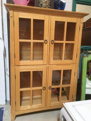 Beautiful Piece of furniture curio cabinet console buffet bookcase vitrina for Sale in Miami, FL