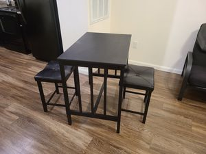 3 PCS Modern Counter Height Dining Set Table And 2 Chairs Kitchen Bar Furniture for Sale in Clermont, FL