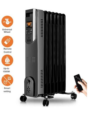 Oil Filled Radiator Heater - Space Heater with Remote Control, Digital Display, Overheat Tip-Over Protection, Oil Heater Room Heater Portable Heater for Sale in Corona, CA