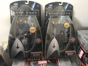 Star Trek Warp Collection Spock and Original Spock action figures. for Sale in Puyallup, WA