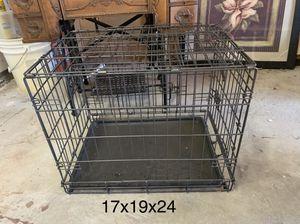 Estate Sales: black metal medium dog crate for Sale in Oakley, CA