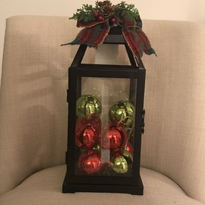 Pretty LED 3AAA Battery operated Christmas Lantern with string of light up Christmas balls. Batteries NOT INCLUDED for Sale in Pembroke Pines, FL