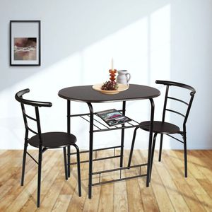 Mainstays 3-Piece Metal Wood Dining Set - Espresso/Black for Sale in Los Angeles, CA