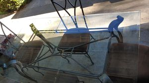 Glass table 4 chair for Sale in Stockton, CA