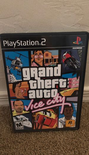 Grand Theft Auto Vice City (PS2, Very Good Condition) Complete w/map/Black Label) for Sale in Vail, AZ