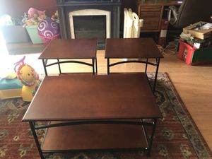 Unsure of brand. 1 coffee table 2 smaller tables for Sale in Winter Haven, FL