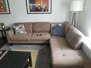 Jennifer Furniture L-shape couch for Sale, used for sale  New York, NY