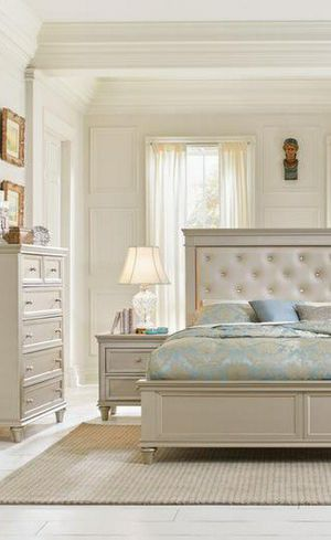 💯🆕Best Price$[SPECIAL] Celandine Silver Panel Bedroom Set for Sale in Columbia, MD