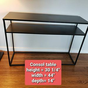 Sleek Black Console Table for Sale in Seattle, WA