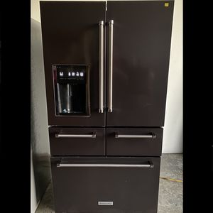 Brand New Kitchen-Aid 5 Door Refrigerator in Black Stainless for Sale in Ontario, CA
