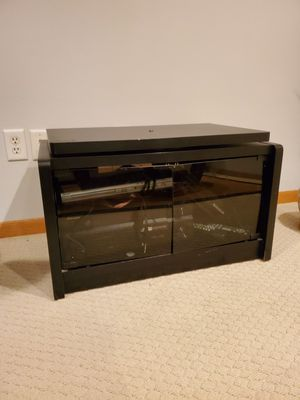 Black TV Stand with storage for Sale in Iowa City, IA