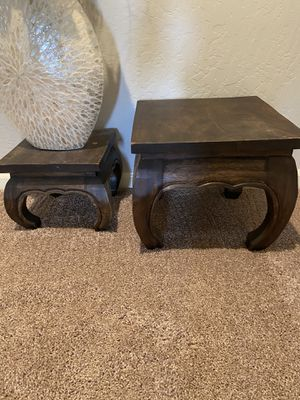 Heavy wood deco stools for Sale in Fresno, CA