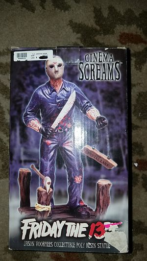Cinema Screams Friday the 13th Jason Voorhees Collectible Poly Resin Statue for Sale in Spanaway, WA