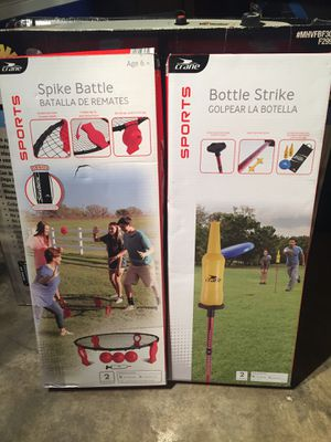 Spike Battle and Bottle Strike games new in box for Sale in Tulsa, OK