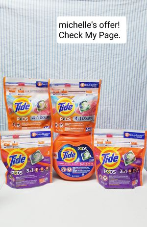 Tide Pods 3in1 Spring meadow, Fresh coral blast tub/Tide pods 4in1 with downy set for Sale in Temple Hills, MD
