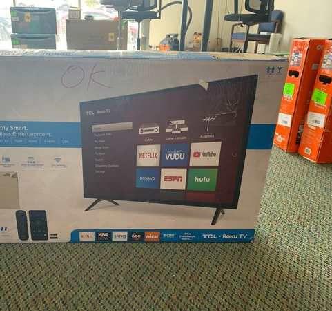 """Brand New TCL ROKU TV 32"""" open box w/ warranty BFLJ"""