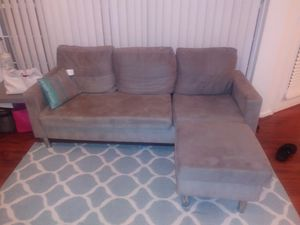 Sectional or Couch with Ottoman for Sale in Sudley Springs, VA