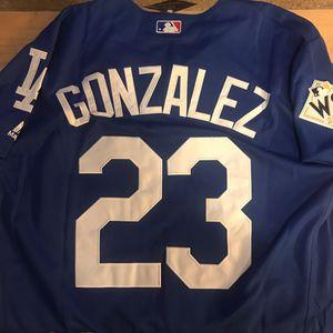 LA Dodgers Gonzalez 23 World Series Jersey for Sale in Chicago, IL