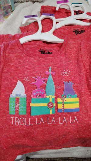 Christmas shirts (trolls) $6 ea sizes 2T,3T,4T,5T for Sale in Los Angeles, CA