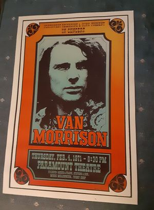 "REPRINT Vintage VAN MORRISON Classic Rock Music Concert Poster... 12""x18"".. Ready for Framing.. for Sale in Port Richey, FL"