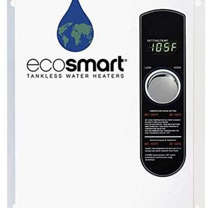 Ecosmart ECO 18 Electric Tankless Water Heater, 18 KW at 240 Volts with Patented Self Modulating Technology,White for Sale in Houston, TX