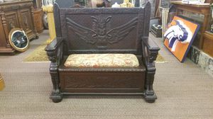 Antique Ornate Victorian Gothic Griffin Bench Furniture for Sale in Denver, CO