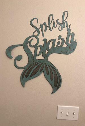 Splash splash wall decor/art for Sale in Issaquah, WA