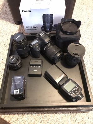 Canon 80D camera bundle for Sale in Lake Hubert, MN