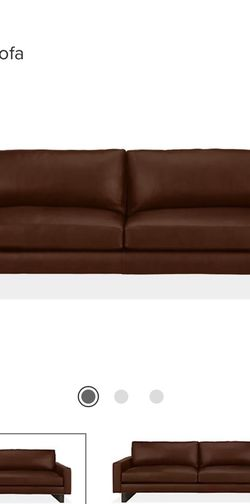 Leather 102 Inch Lecco Cognac Custom Couch From Room And Board for Sale in Kirkland,  WA