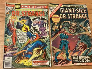 2x Marvel comic book collection Dr. Strange 1 King AND Giant Sized edions for Sale in Crownsville, MD