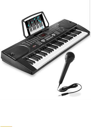 Hamzer 61-Key Digital Music Piano Keyboard - Portable Electronic Musical Instrument - with Microphone for Sale in Seattle, WA