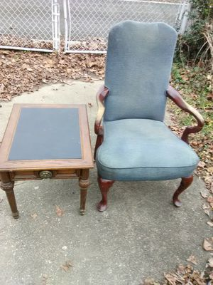 Antique chair and table for Sale in Washington, DC