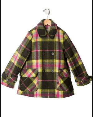 Girls Burberry Nova Check Plaid Wool/Cashmere Blend girls Coat Sz. 5 for Sale in New York, NY