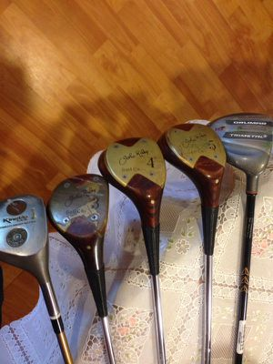 John Ryder golf clubs, bag, shoes (size 11) glove, cleaning tool, and balls. for Sale in Nokesville, VA